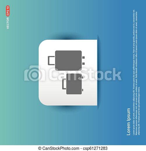 Travel bag icon - Blue Sticker button - csp61271283