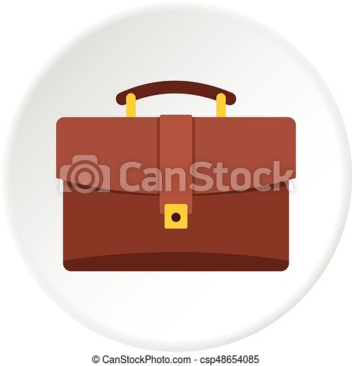 Travel bag icon circle - csp48654085