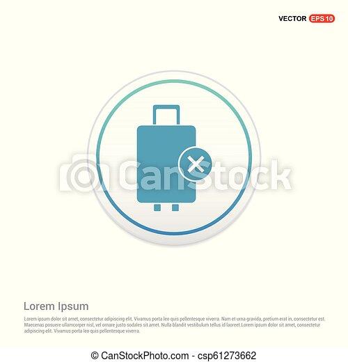 Travel bag icon - white circle button - csp61273662