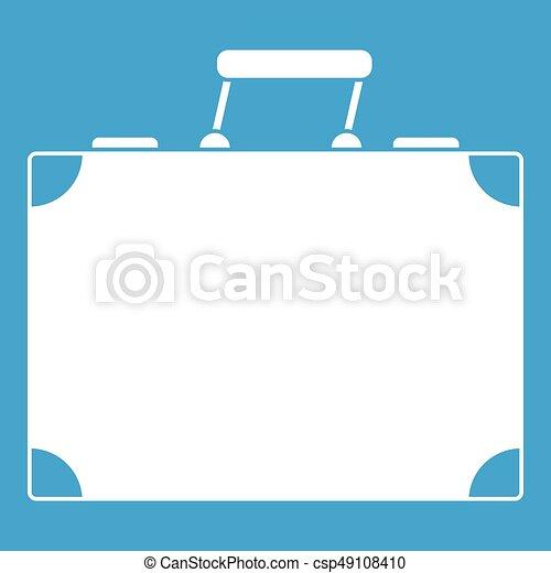 Travel bag icon white - csp49108410