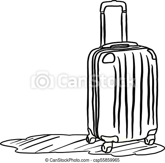 Travel Bag With Shadow Vector Illustration Sketch Hand Drawn Clip Rh Canstockphoto Com