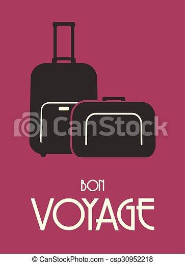 Travel bags retro poster - csp30952218