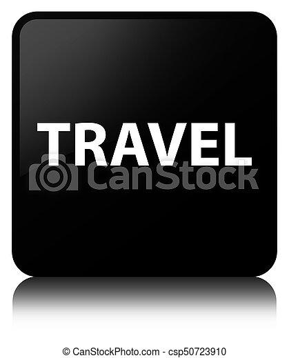 Travel black square button - csp50723910