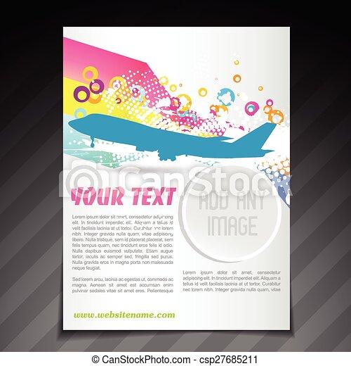 Vector Travel Brochure Flyer Template Design