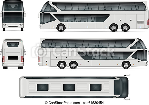 Travel Bus Vector Template Bus Vector Mock Up Isolated Template Of