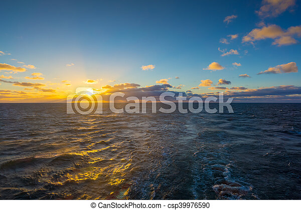 Travel by ferry in the Baltic Sea - csp39976590