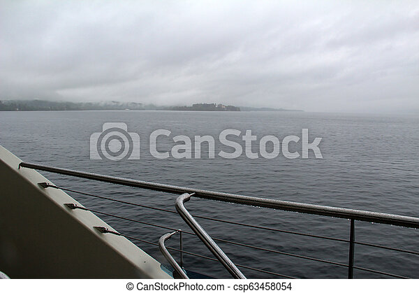 Travel by ferry on a lake in Germany - csp63458054