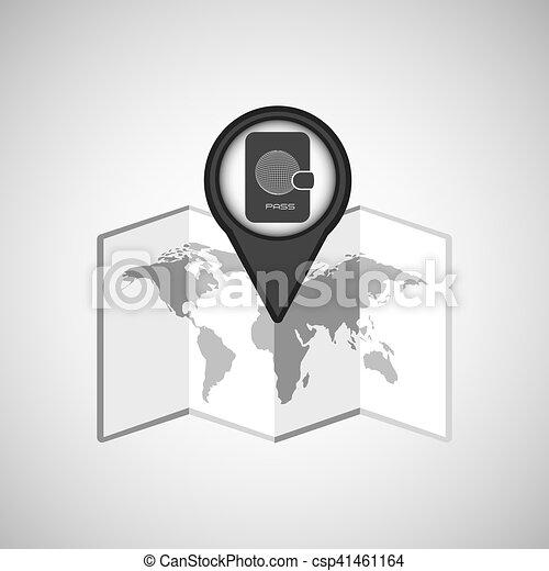 travel concept location map passport design graphic - csp41461164