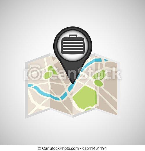 travel concept location map portfolio design graphic - csp41461194