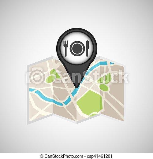travel concept location map restaurant design graphic - csp41461201