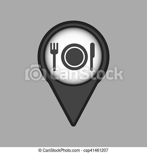 travel concept location map restaurant design graphic - csp41461207