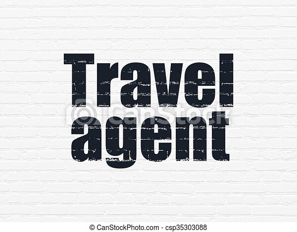 Travel Concept Agent On Wall Background