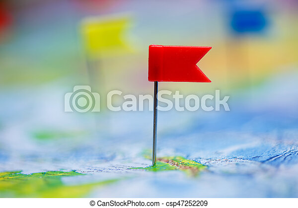 Travel concept with flag pushpins and world map stock photography travel concept with flag pushpins and world map csp47252209 gumiabroncs Images