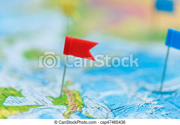 Travel concept with flag pushpins and world map stock photos travel concept with flag pushpins and world map csp47465436 gumiabroncs Images