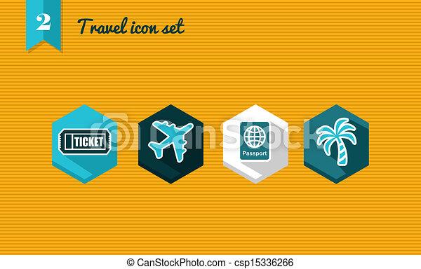 Travel flat icon set. - csp15336266