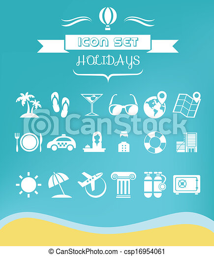 Travel Flat Icon Set - csp16954061