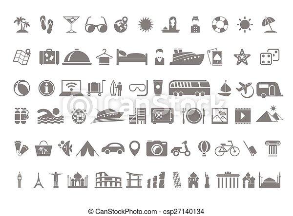 Travel flat icon set - csp27140134