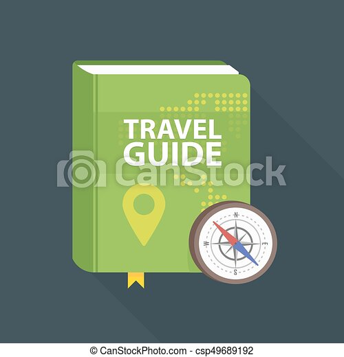 Travel guide book icon world map and pin in cover flat eps world map and pin in cover flat vector illustration gumiabroncs Images