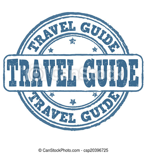 Travel Guide Stamp Grunge Rubber On White