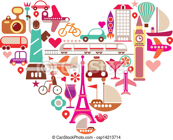 Travel Heart - csp14213714