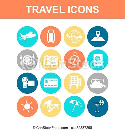 Travel icon set - csp32387298