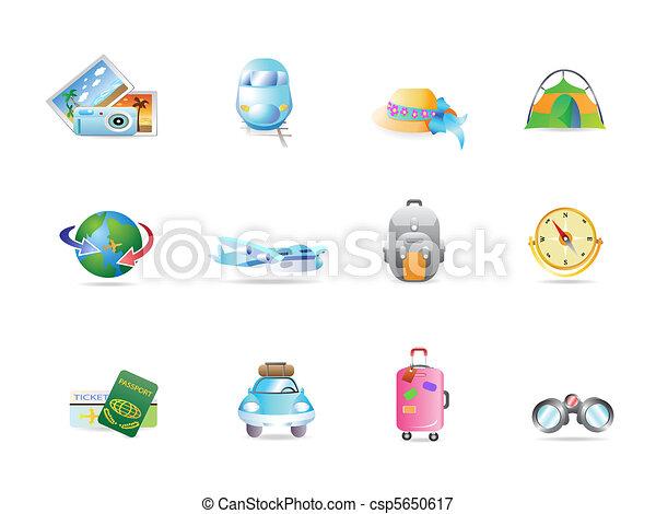 travel icon set  - csp5650617