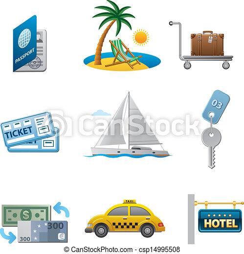 travel icon set - csp14995508