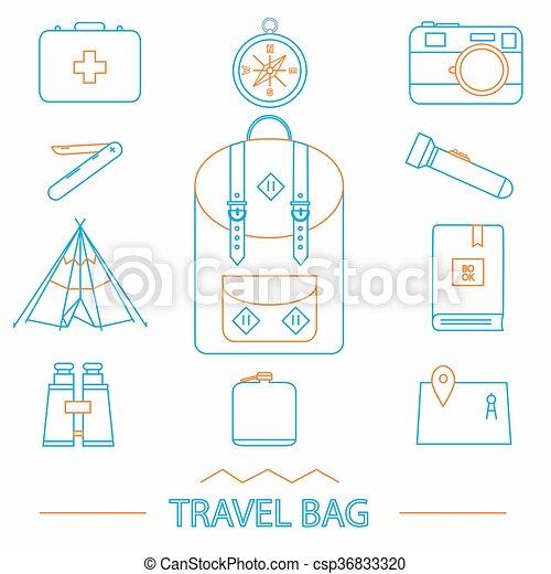 Travel icons set  - csp36833320