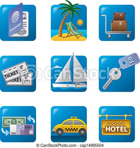 travel icons - csp14995504