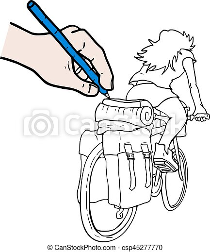 design of travel in bike draw