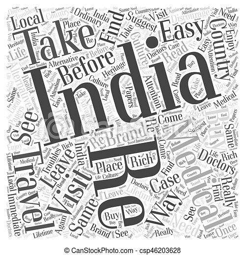 Travel In India Word Cloud Concept