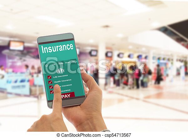 Travel insurance and modern lifestyle - csp54713567