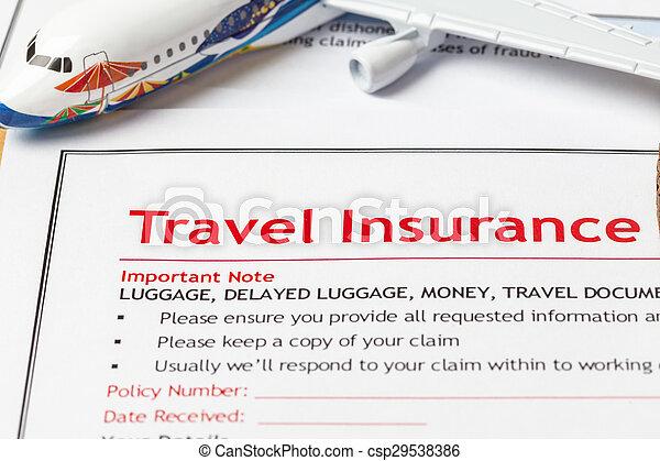 Travel insurance claim application form on brown envelope travel insurance claim application form on brown envelope business insurance and risk concept document altavistaventures Choice Image