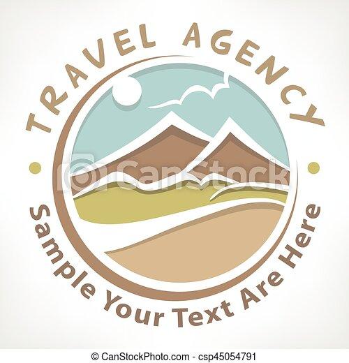 Travel logo pastel - csp45054791
