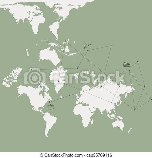 Travel map - csp35769116