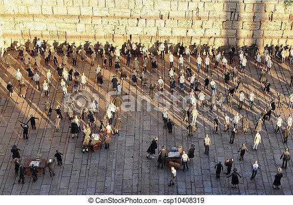 Travel Photos of Israel - Jerusalem Western Wall - csp10408319