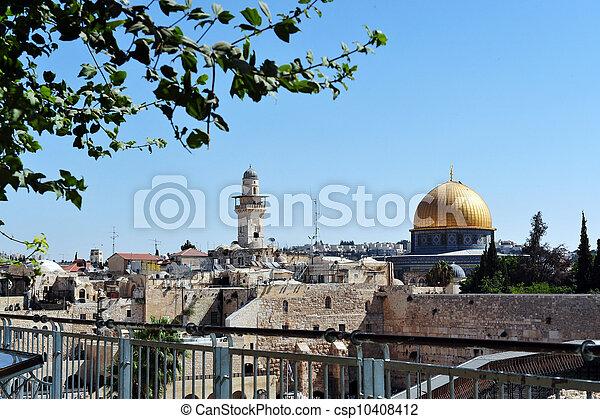 Travel Photos of Israel - Jerusalem Western Wall - csp10408412