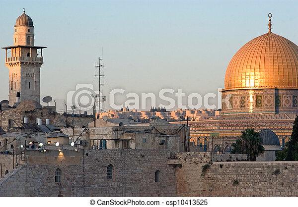 Travel Photos of Israel - Jerusalem Western Wall - csp10413525