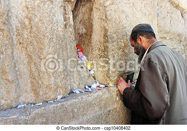 Travel Photos of Israel - Jerusalem Western Wall - csp10408402