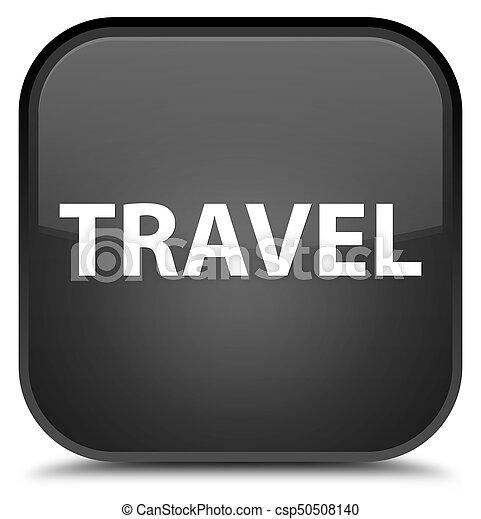 Travel special black square button - csp50508140