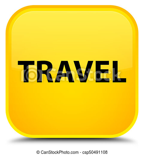 Travel special yellow square button - csp50491108