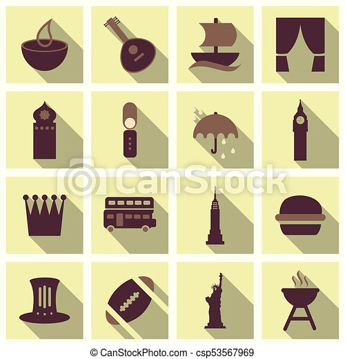 Travel Symbols And Tourism Signs Vector Illustration Clip Art