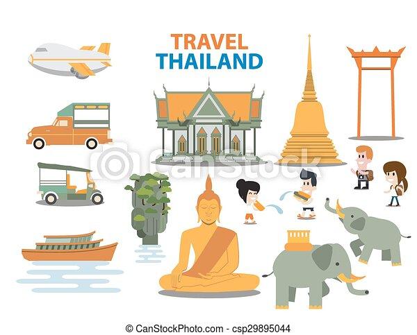 Travel thailand landmarks - csp29895044