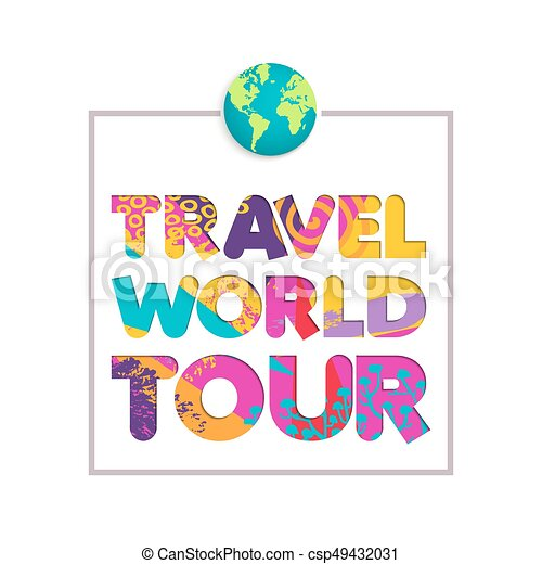 Travel The World Color Cutout Quote