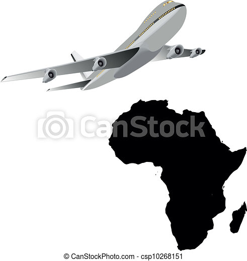 travel to africa flying airplane and african map clipart vector rh canstockphoto com africa victoria falls map african victoria's secret models