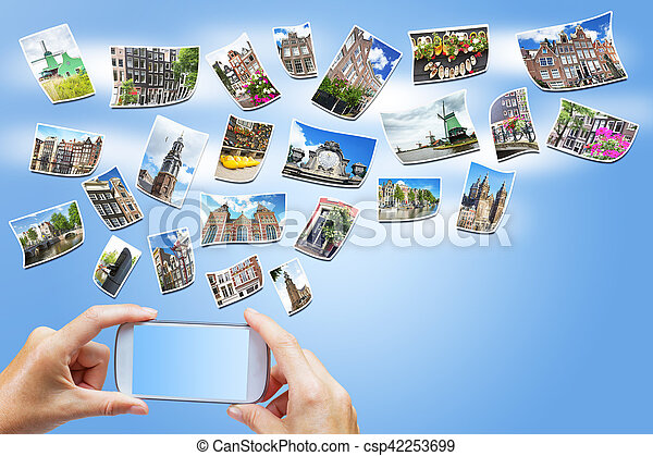 Travel to Amsterdam concept (Netherlands) - csp42253699