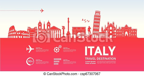 Travel to Italy vector - csp67307067