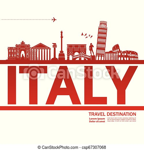 Travel to Italy vector - csp67307068