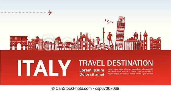 Travel to Italy vector - csp67307069