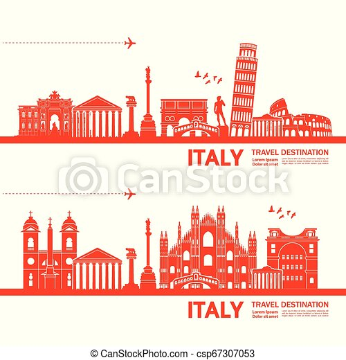 Travel to Italy vector - csp67307053